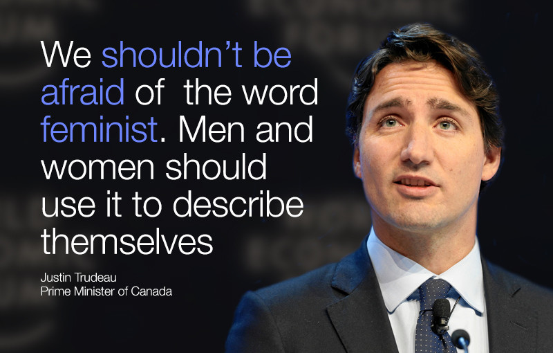 Justin Trudeau I Will Raise My Sons As Feminists World Economic Forum