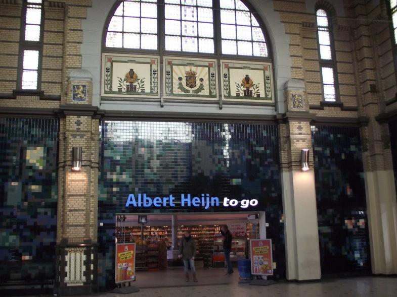 Magasin Ahold à Leeuwarden aux Pays-Bas.