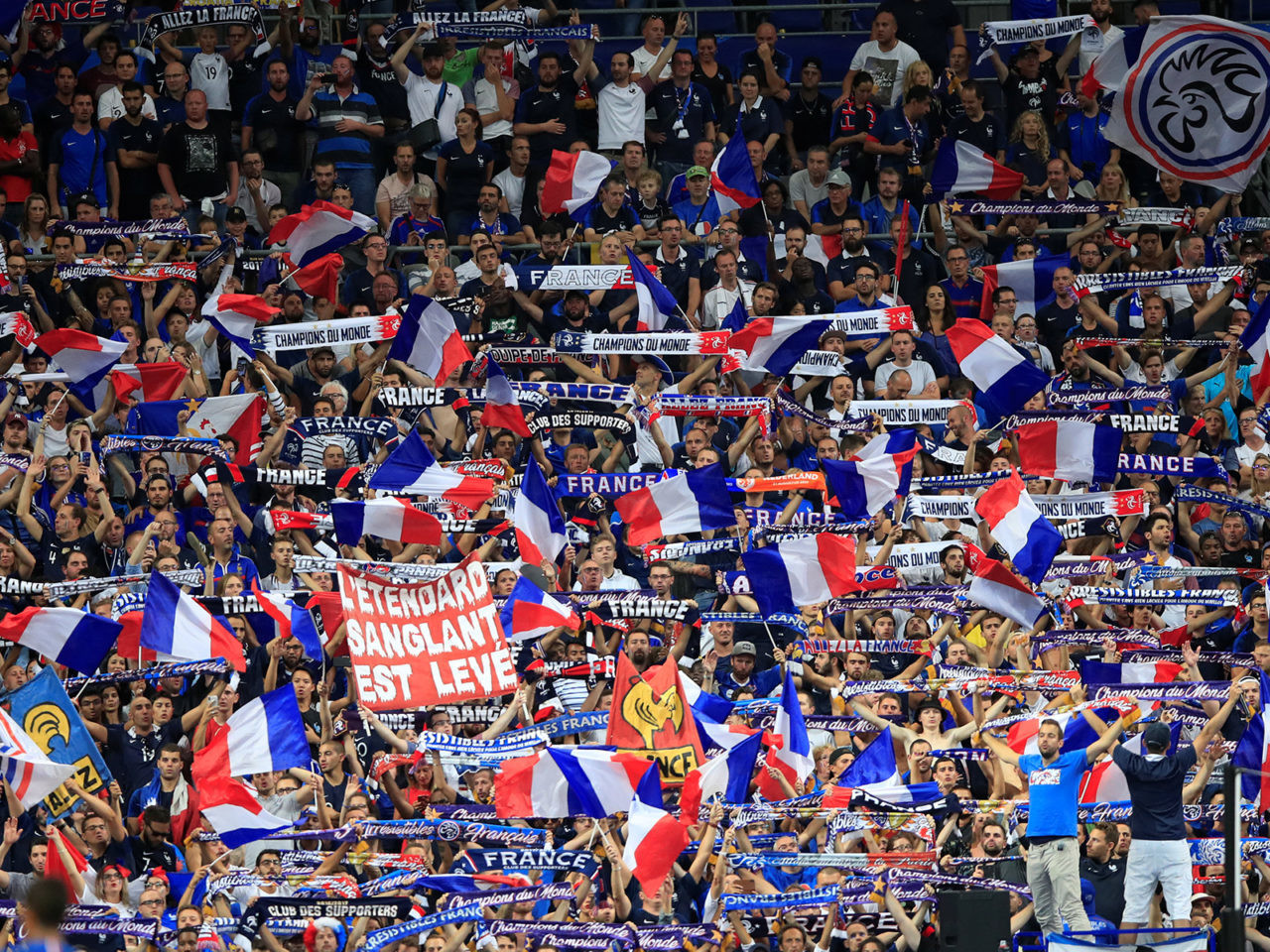 Soccer Football - UEFA Nations League - League A - Group 1 - France v Netherlands - Stade de France, Saint-Denis, France - September 9, 2018  France fans  REUTERS/Gonzalo Fuentes