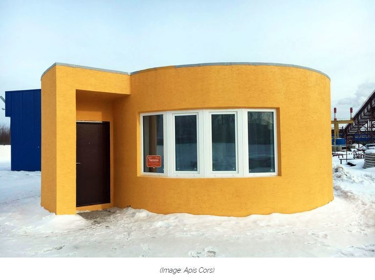The first 3D-printed house