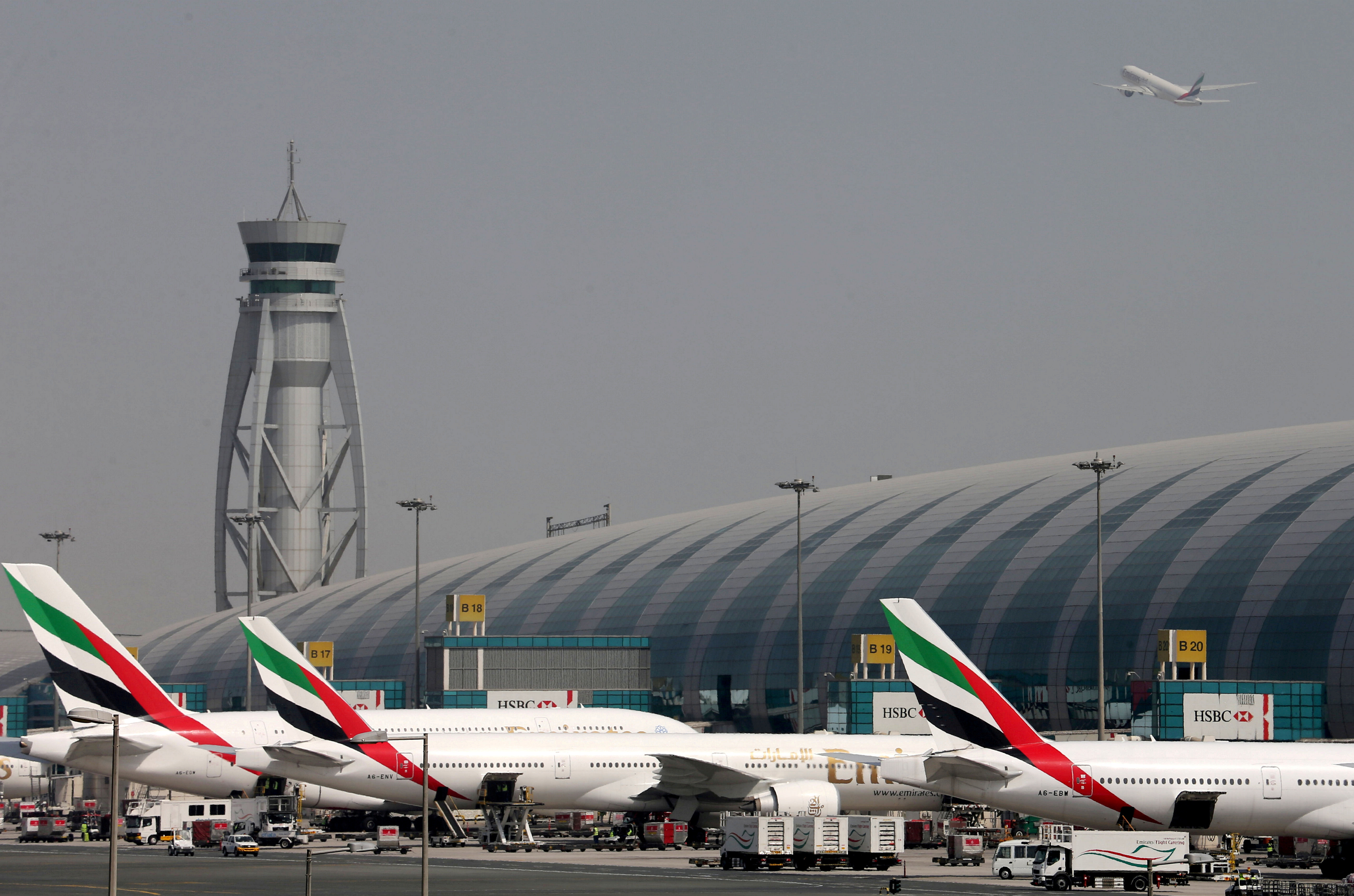 Emirates Airlines aircrafts are seen at Dubai International Airport, United Arab Emirates May 10, 2016. REUTERS/Ashraf Mohammad
