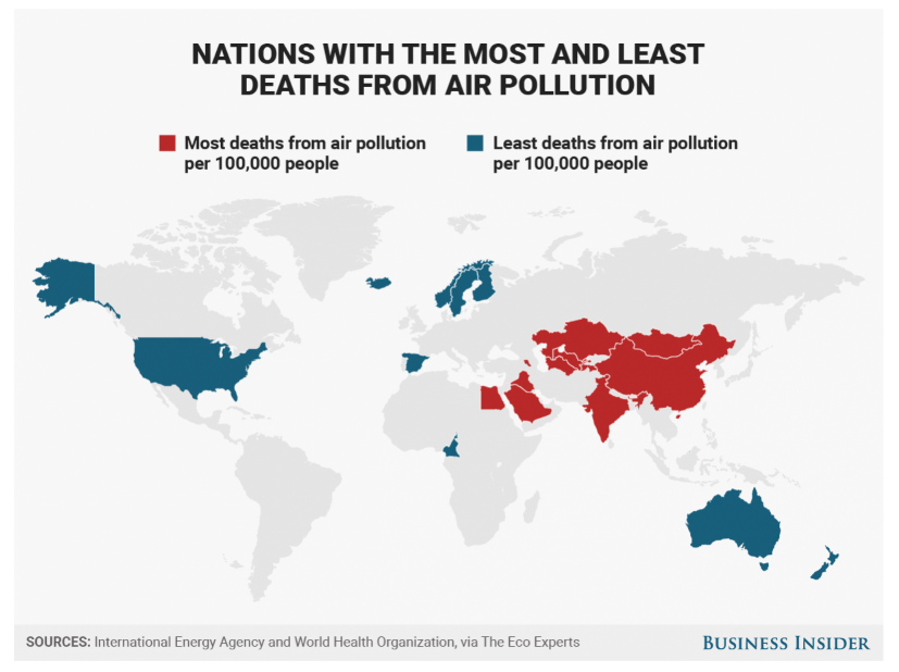 The Best And Worst Countries For Air Pollution And
