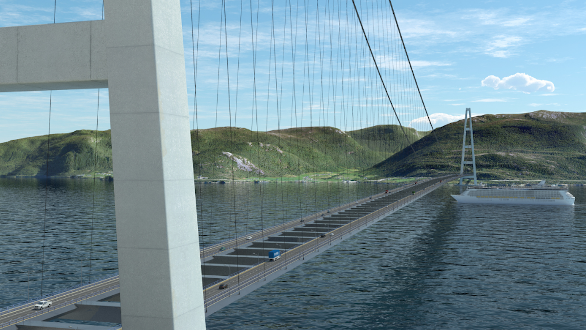 The NPRA is also considering creating a 12,139-foot-long suspension bridge, which would be three times the length of San Francisco's Golden Gate bridge and double the current world record for a bridge's length.