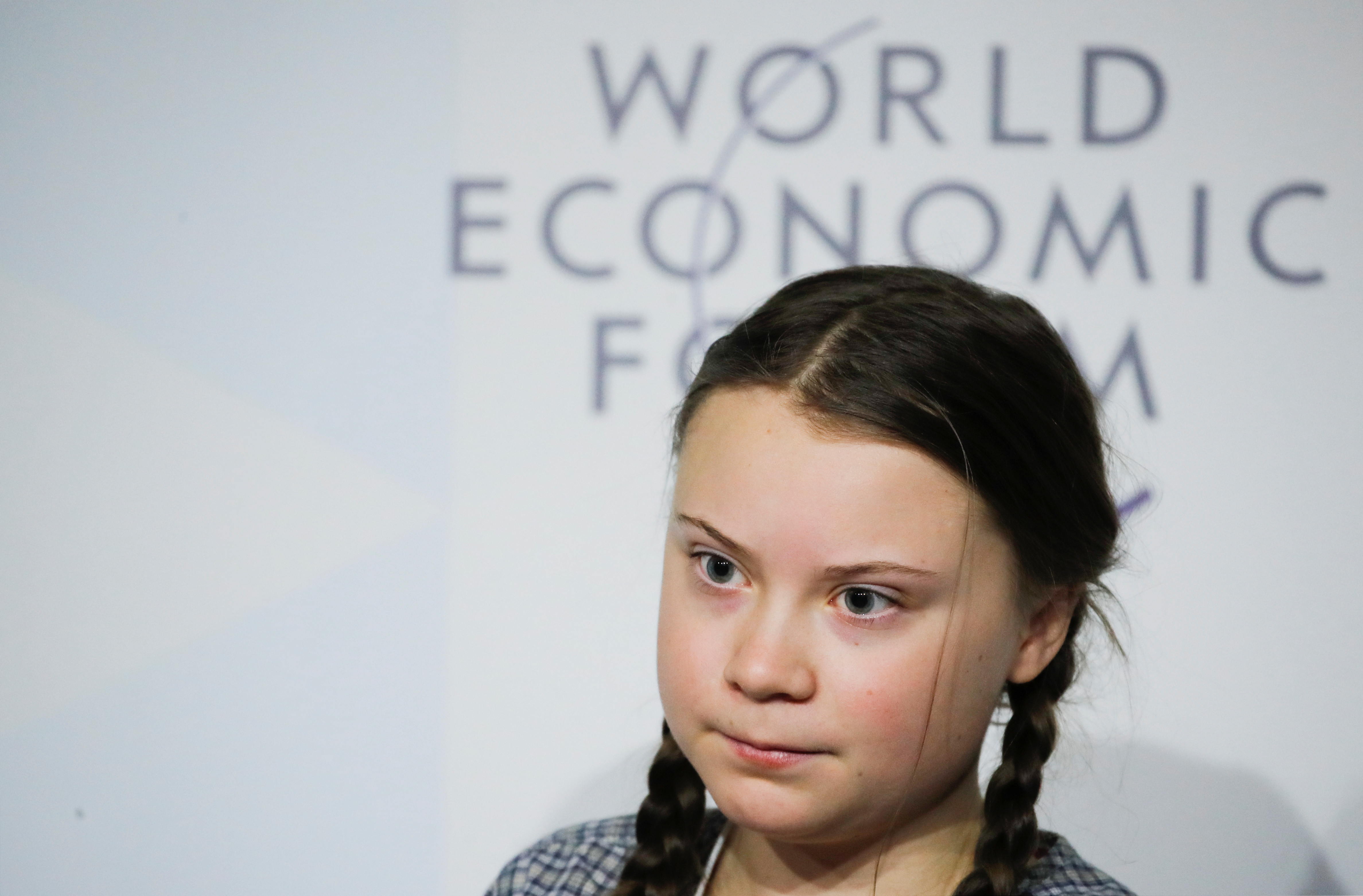 Swedish environmental activist Greta Thunberg speaks at the World Economic Forum Annual Meeting in January.