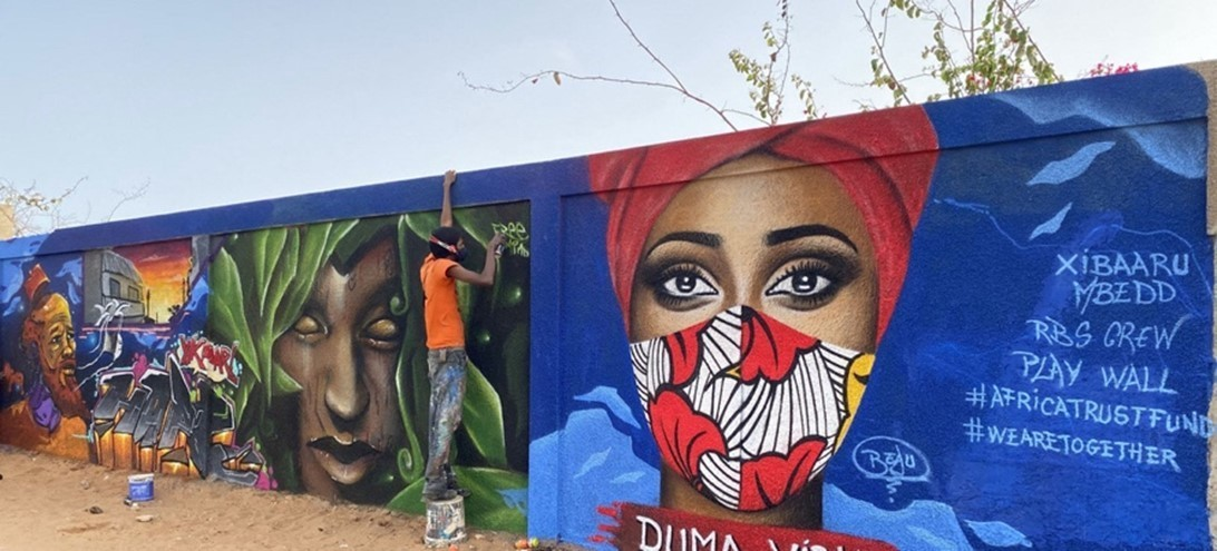 Senegalese artists have painted murals in the capital, Dakar, to raise awareness about COVID-19