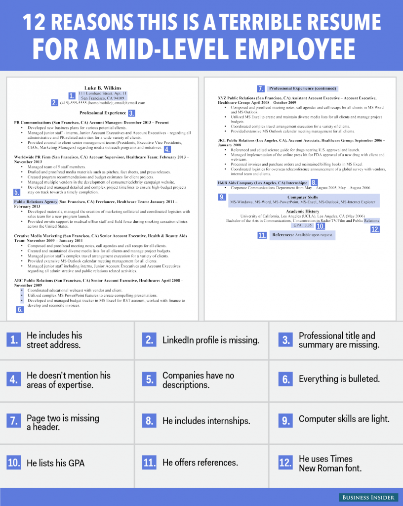 150508 Bi_graphics_badresume_midlevel 1 On Mid Career Resume