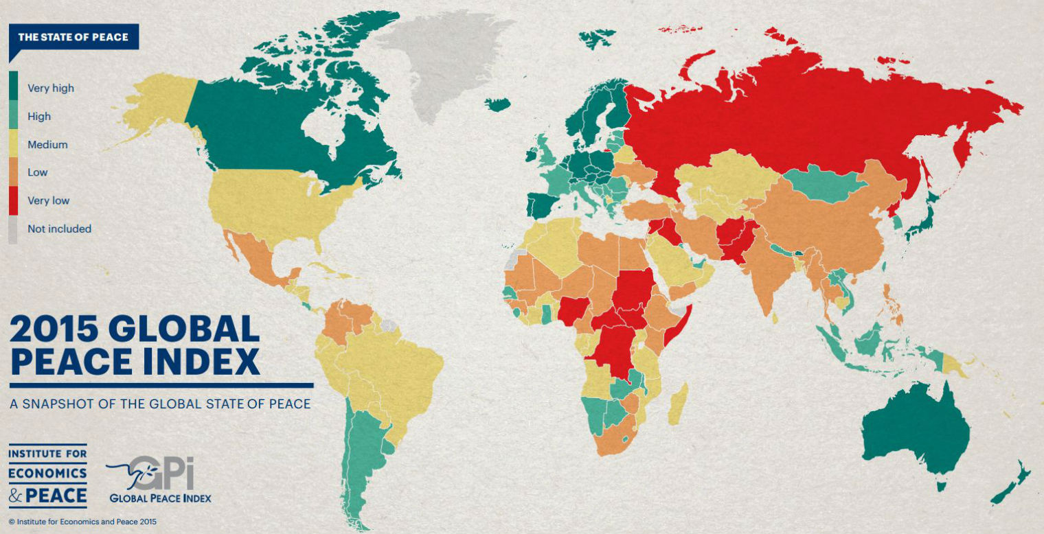 which is the most peaceful country in the world world economic forum