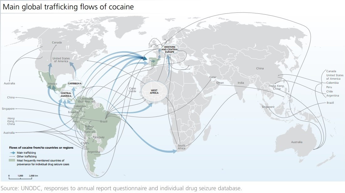 Cocaine 'resurgence' in EU as South America output rises: watchdog