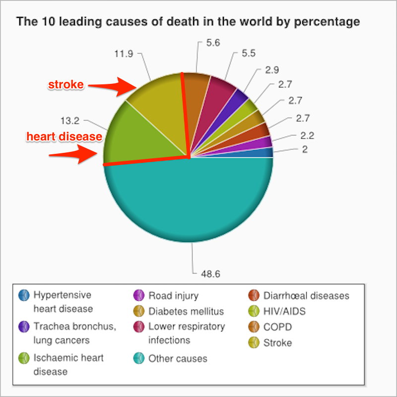 Which two things cause a quarter of all deaths in the world