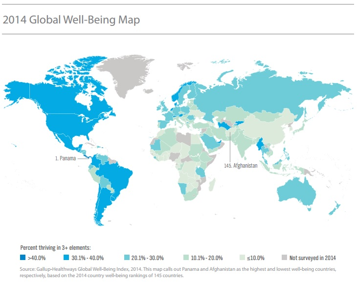 these are the countries with the highest levels of well being