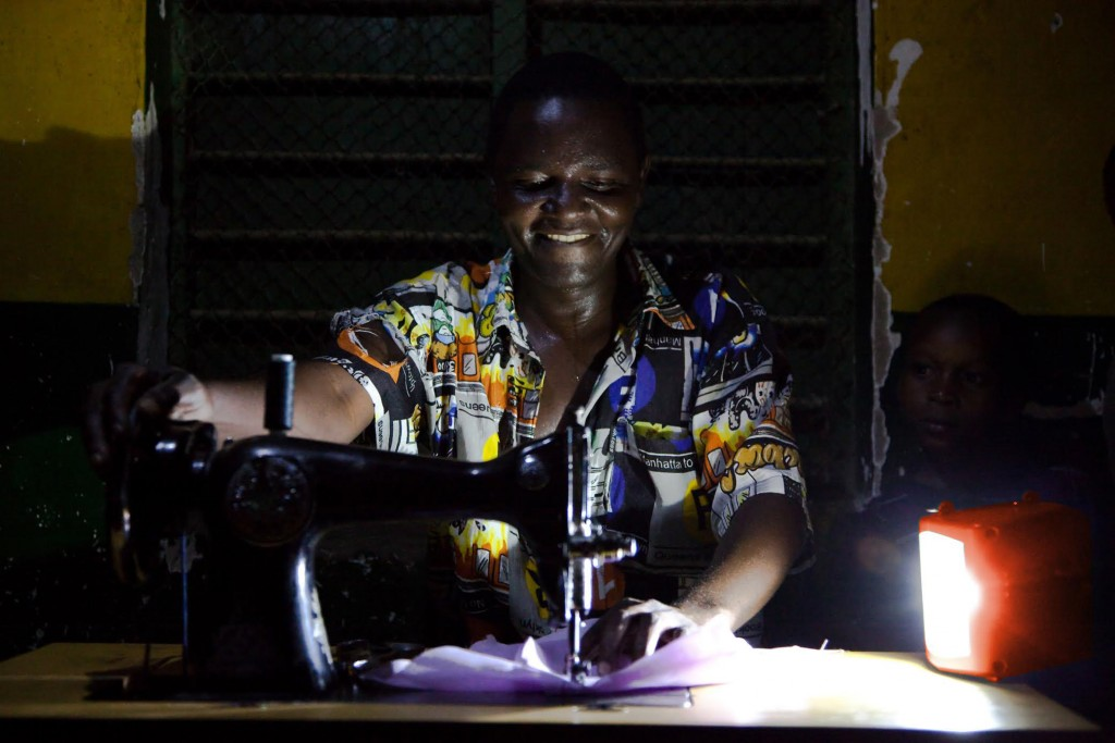 Impact through energy innovation, supported by the Power Africa Beyond the Grid initiative, empowers rural families in Tanzania to extend their productive day well beyond nightfall. This Tanzanian man can sew at night thanks to a d.light solar lantern, providing additional income generating opportunities for him and his family. Power Africa is breaking cycles of poverty by giving people the tools needed to improve the livelihood of their families and communities.