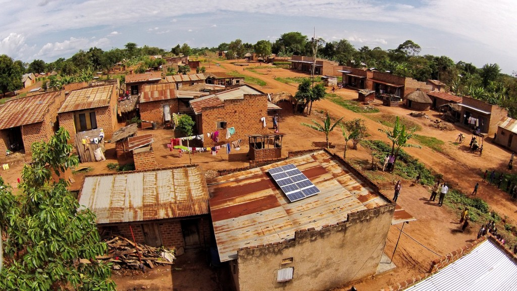 This 500W solar system in a rural village in Uganda powers a home, drives a public broadcasting system, a barbershop and a video hall and generates new income for the business owner. Photographer: Sameer Halai, Co-Founder of SunFunder Solar Company: SolarNow