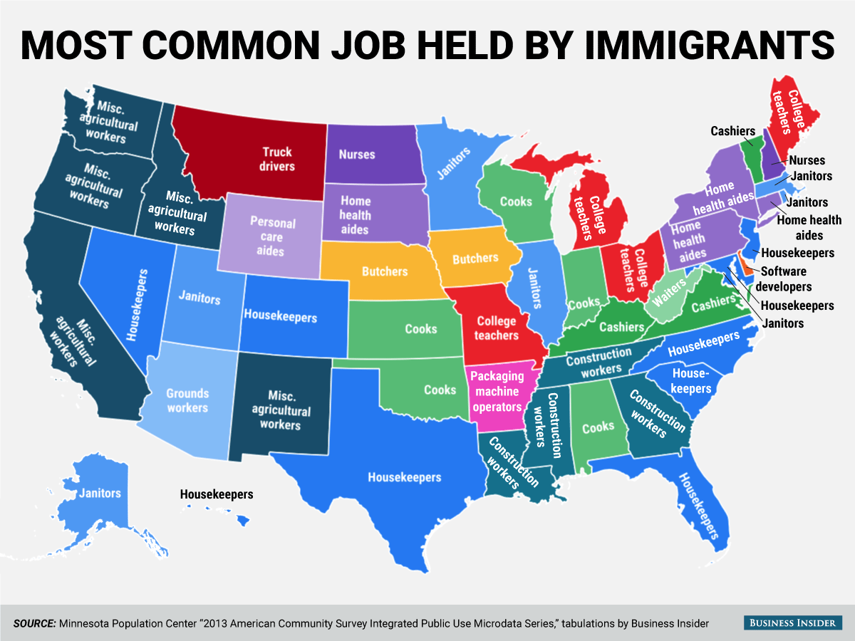 What Jobs Do Americas Immigrants Hold World Economic Forum - Drone mapping jobs