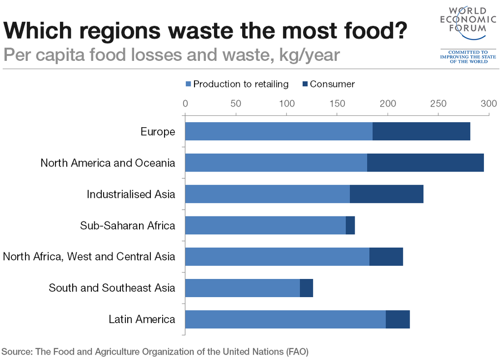 Which Countries Waste The Most Food World Economic Forum