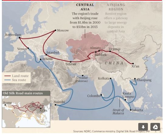 151014-China silk road trade logistics FT