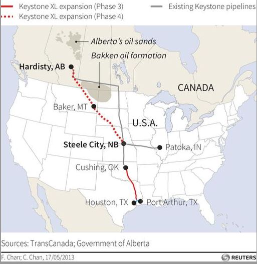 151020-Canada keystone map Reuters