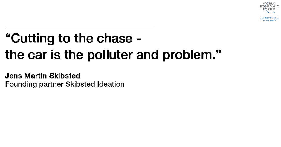 Cutting to the chase: the car is the polluter and problem.