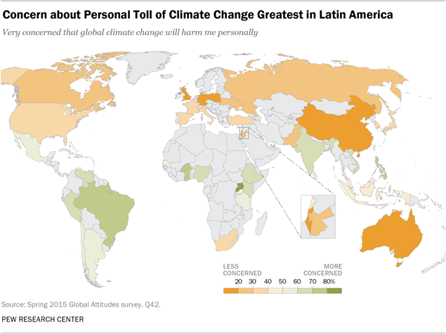 151119-map concern about personal impact of climate change Pew