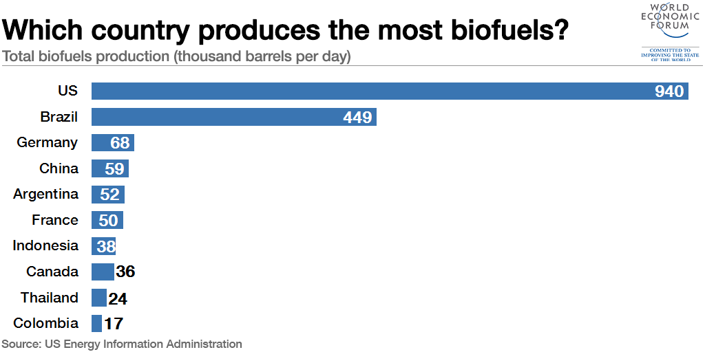 These Countries Produce The Most Biofuels World Economic