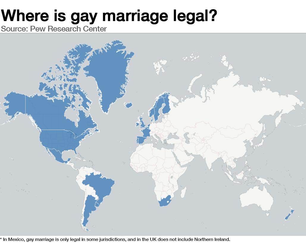 Gay marriage legal in the world
