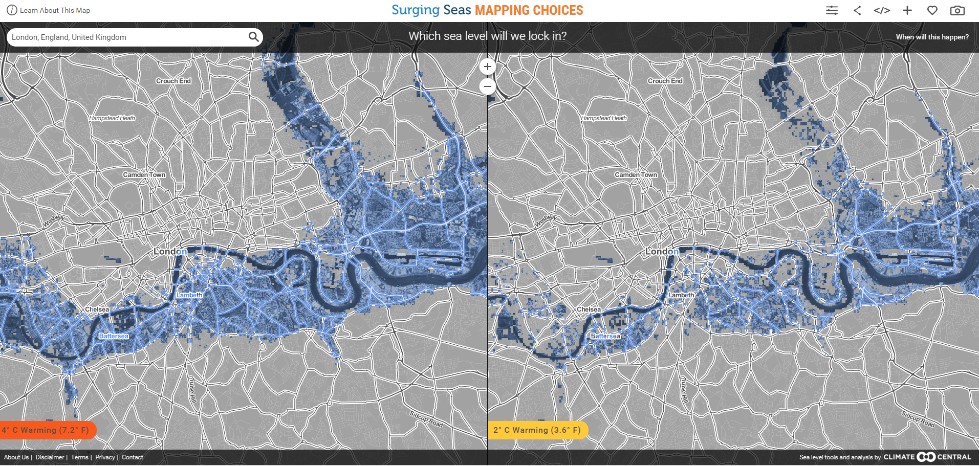 1511B32-london sea level rise predictor map
