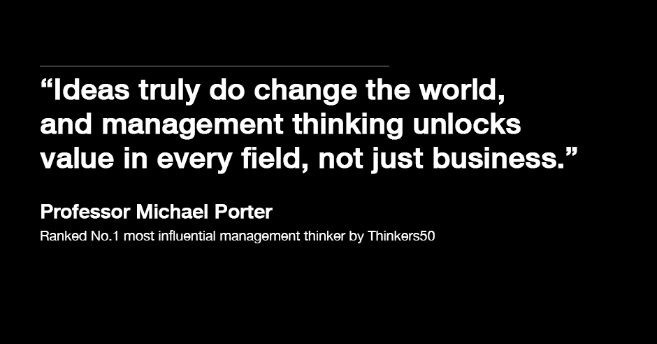 1511B33-Influential management thinkers Michael Porter quote card
