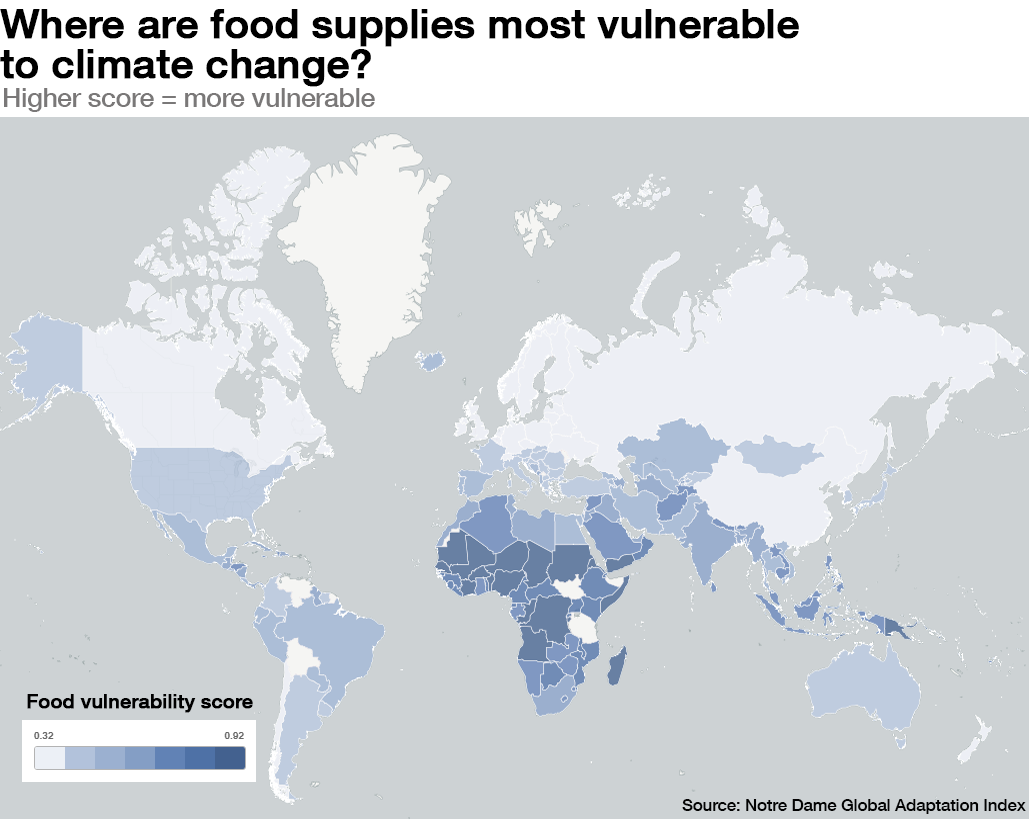 1511B71-food vulnerability climate change food scarcity world map