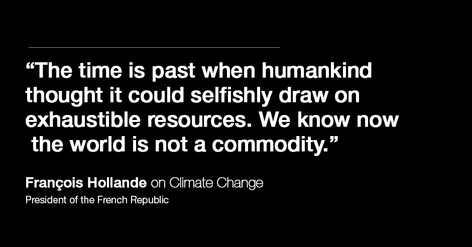 Quotes On Climate Change By World Leaders  World Economic Forum Hollande