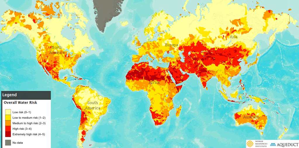World Map Water.Why We Need To Address Global Water Security Now World Economic Forum