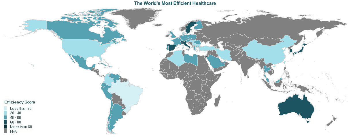 151215-most efficient healthcare map Huff Post