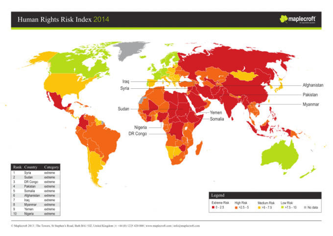 1512B18-human rights risk index map 2014 Syria Sudan