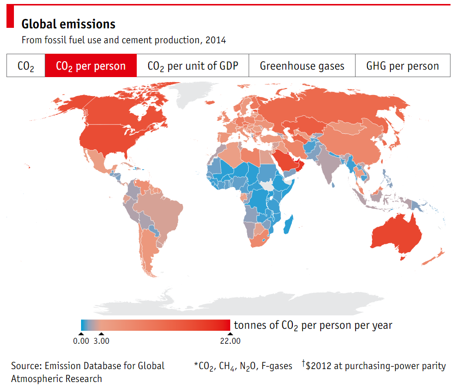 1512B28-per capita CO2 emissions 2014 economist world map