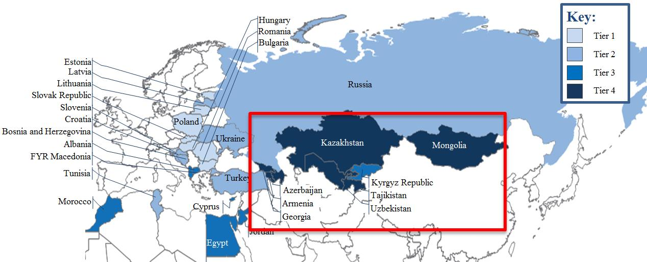 Key Challenges For Eurasia World Economic Forum - Georgia map activity tier 2